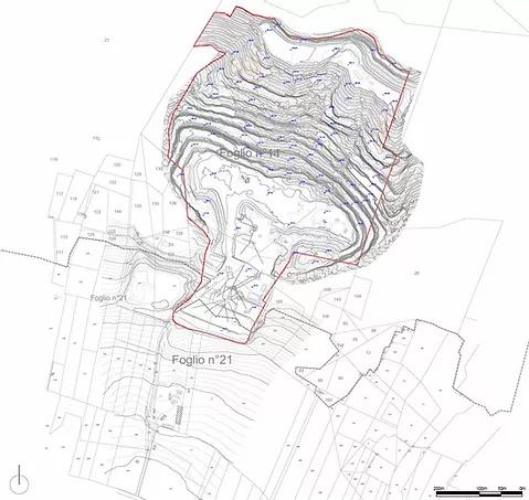 Planimetria - curve di livello catastale