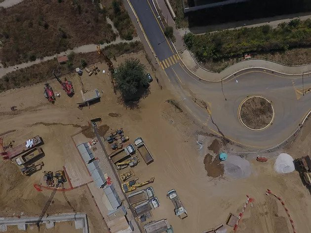 area cantiere vista drone