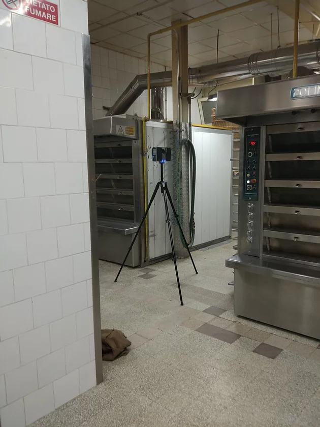 laser scanner posizionato