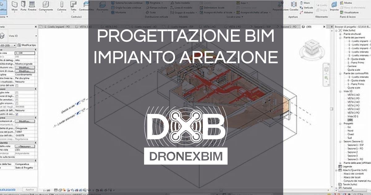 progettazione BIM di un impianto di areazione