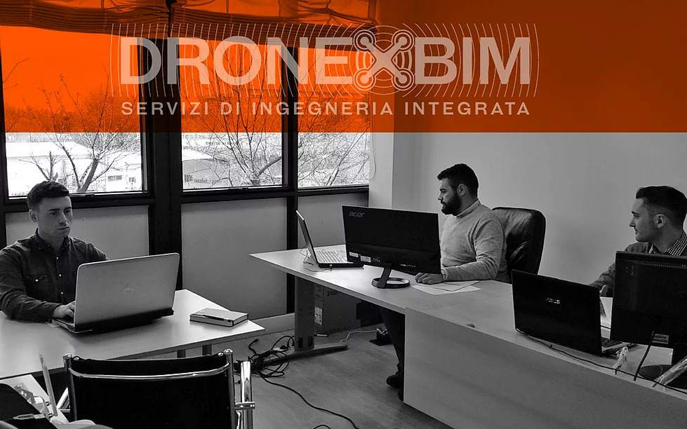 Team degli ingegneri di Dronexbim